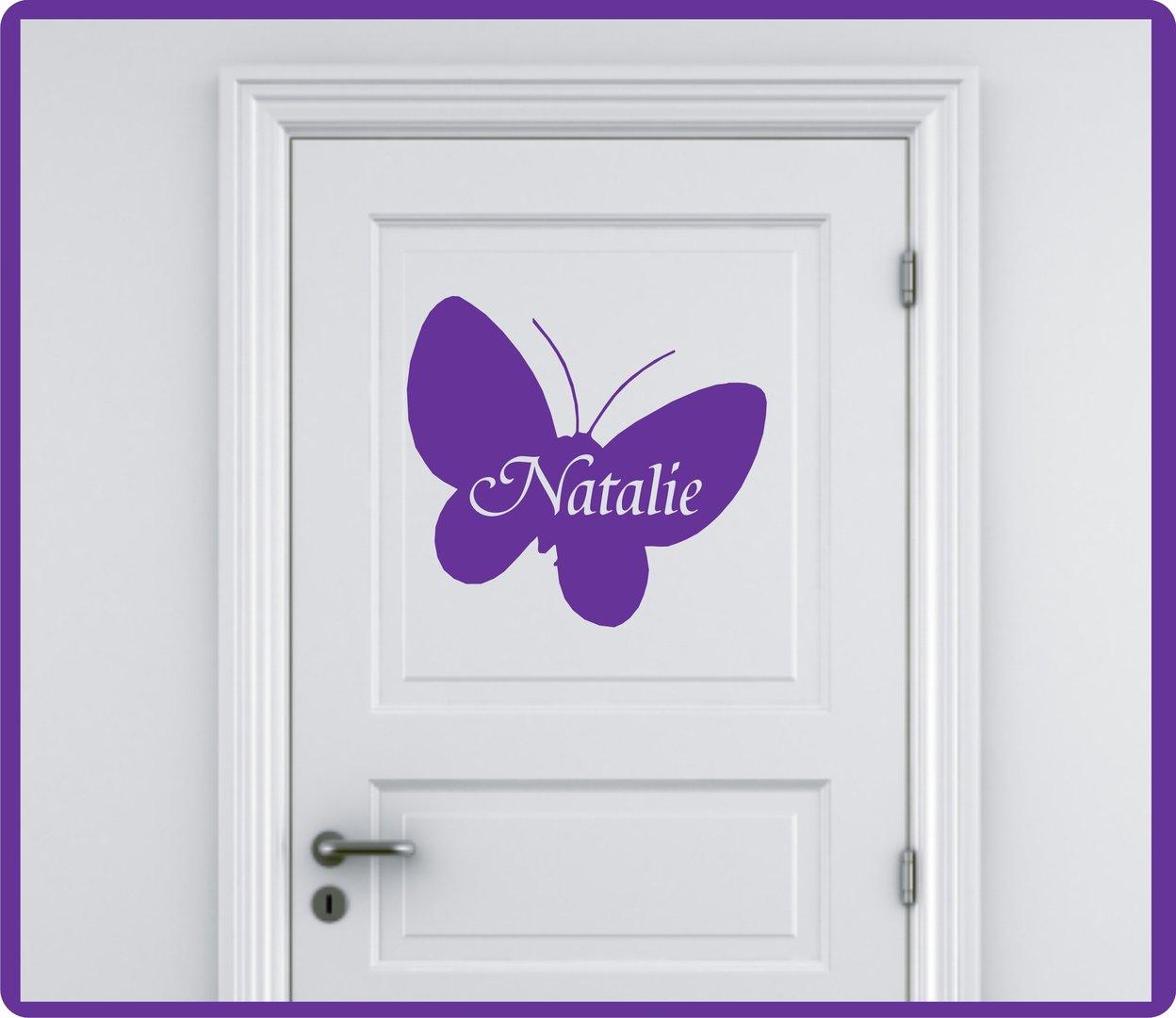Großartig Wandtattoo Schmetterling Referenz Von Mit Name- Farbwahl