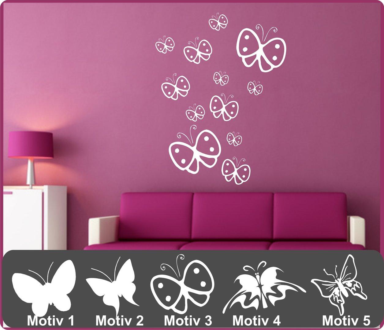Fesselnde Wandtattoo Schmetterling Ideen Von Set Motiv-und Farbwahl
