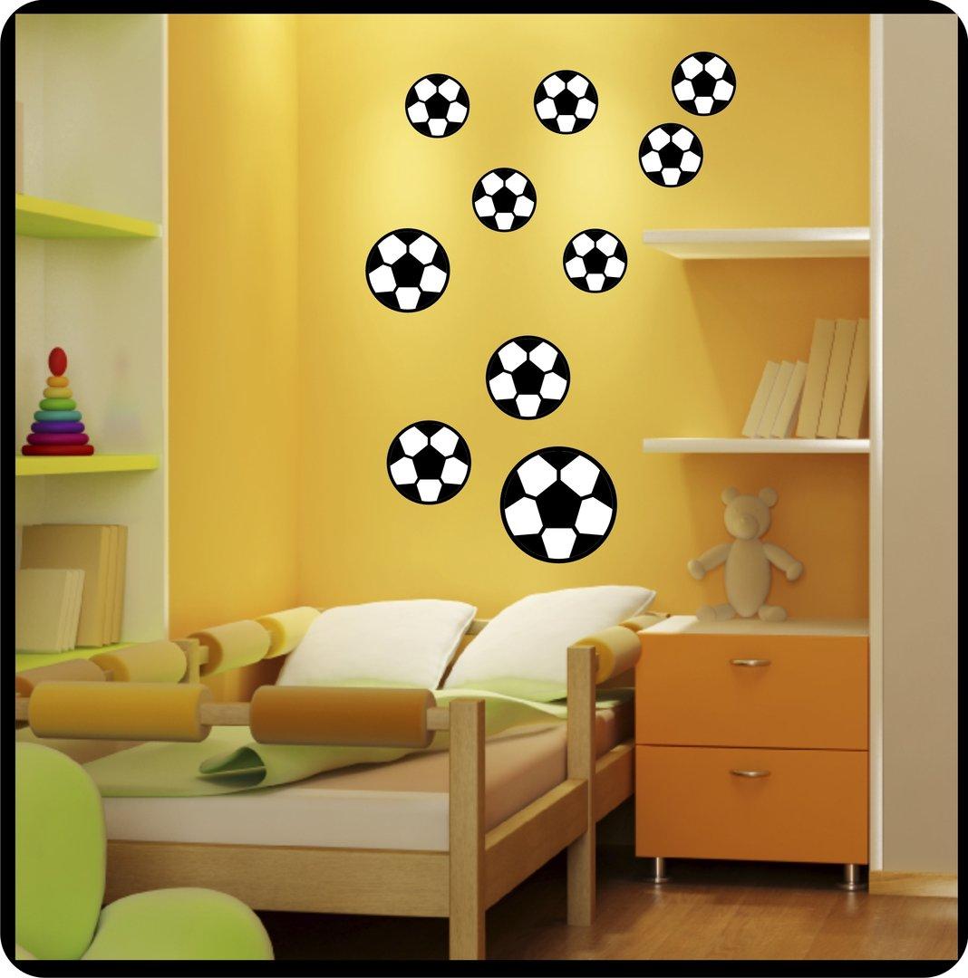 Erstaunlich Wandtattoo Fußball Sammlung Von Fussball 2farbig 10er Set
