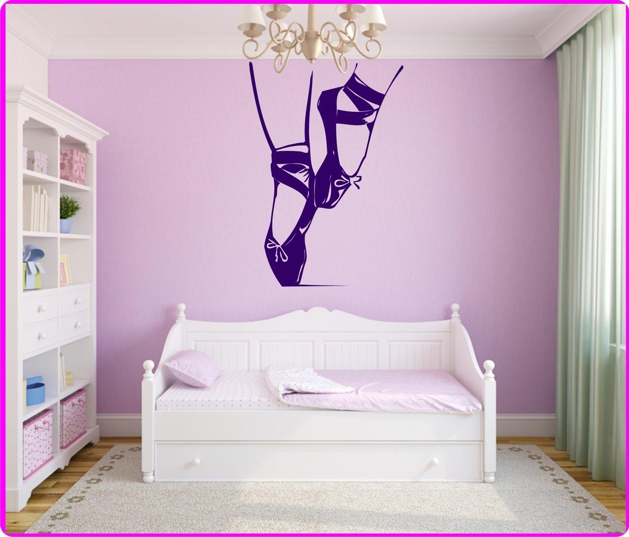 Wunderschön Wandtattoo Lila Galerie Von Ballettschuhe - Farbwahl